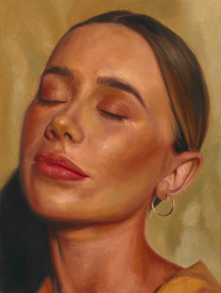 (CreativeWork) Golden Hour by Rachelle Dusting. Oil Paint. Shop online at Bluethumb.