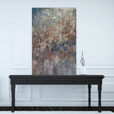 (CreativeWork) Ambrosia Blue by Andrea Edwards. Acrylic Paint. Shop online at Bluethumb.