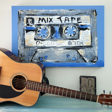 (CreativeWork) Mix Tape No.16 by Lisa Fahey. Acrylic Paint. Shop online at Bluethumb.