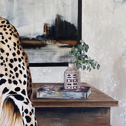 (CreativeWork) Chic Cheetah  by Bonnie Larden. Acrylic Paint. Shop online at Bluethumb.
