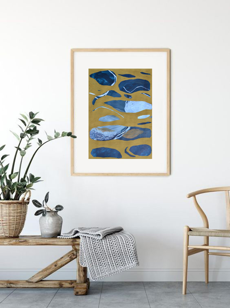 (CreativeWork) Down by the River by Chloe Papastavrou. Mixed Media. Shop online at Bluethumb.
