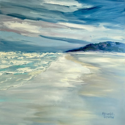 (CreativeWork) Seaside by Meredith Howse. Oil Paint. Shop online at Bluethumb.