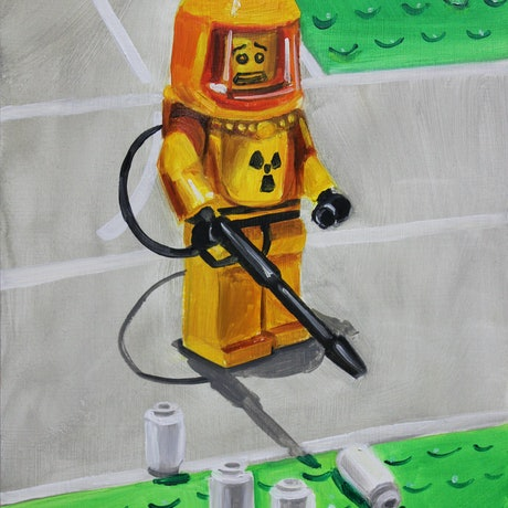 (CreativeWork) Toxic Waste Paper by Ben Sherar. Oil Paint. Shop online at Bluethumb.