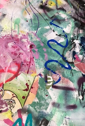 (CreativeWork) Street Abstract 135 by Cold Ghost. Mixed Media. Shop online at Bluethumb.
