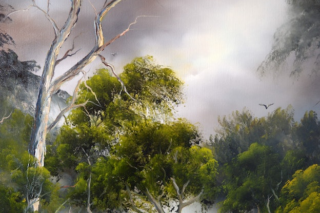 (CreativeWork) Into the Wilderness 1 by Elaine Green. Oil Paint. Shop online at Bluethumb.