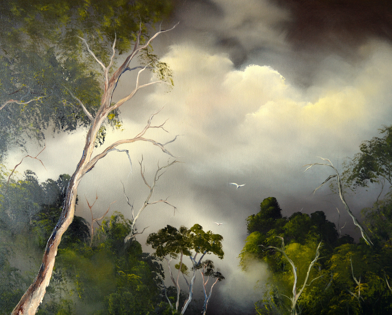 (CreativeWork) Into the Wilderness 2 by Elaine Green. Oil Paint. Shop online at Bluethumb.