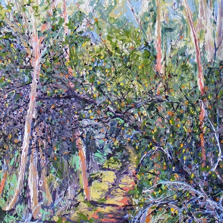 "(CreativeWork) ""Banksia Overpass"" by Daniela Selir. Acrylic Paint. Shop online at Bluethumb."