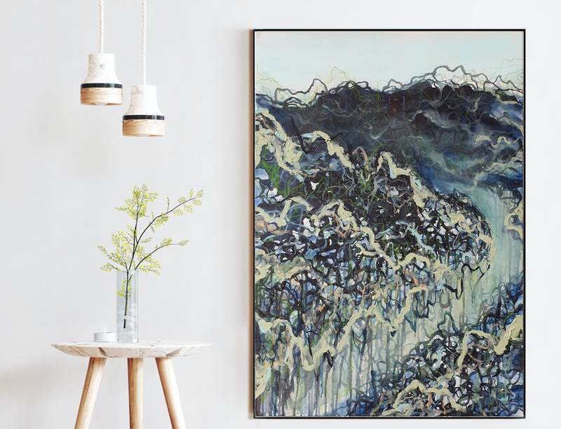 (CreativeWork) To Bend and Flow With the River by Leni Kae. Mixed Media. Shop online at Bluethumb.