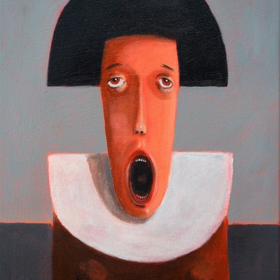 (CreativeWork) Silent scream by Max Horst  Sokolowski. Acrylic Paint. Shop online at Bluethumb.