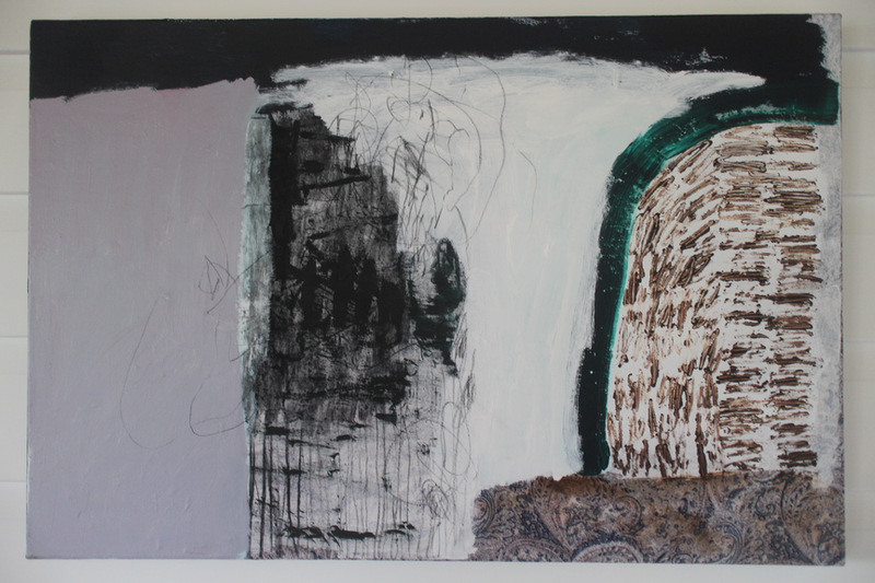 (CreativeWork) Hill Side  by Odessa Mahony-de Vries. Mixed Media. Shop online at Bluethumb.