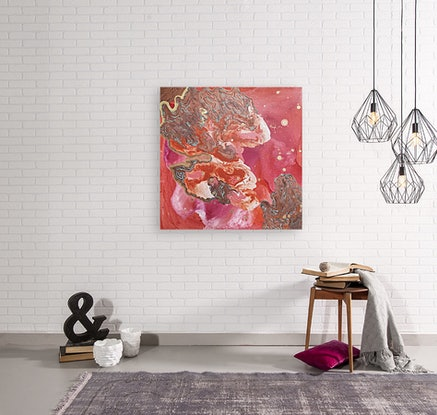 (CreativeWork) Ebb and Flow by Bryn Newman. Acrylic Paint. Shop online at Bluethumb.