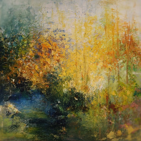 (CreativeWork) Autumn 2020 by Maria Cross. Oil Paint. Shop online at Bluethumb.