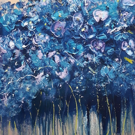 (CreativeWork) She Loves You #2 by Rose Knight. Acrylic Paint. Shop online at Bluethumb.