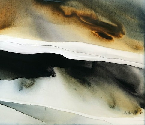 (CreativeWork) Shoreline 1 by Dinah Wakefield. Acrylic Paint. Shop online at Bluethumb.