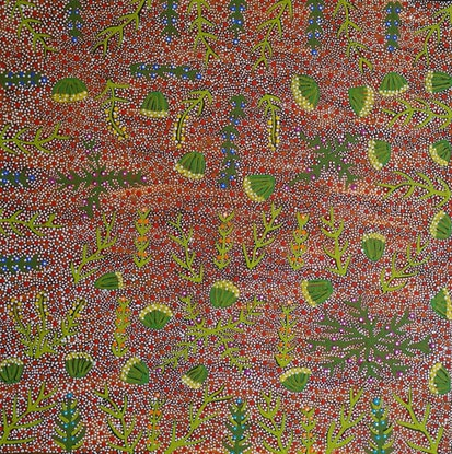 (CreativeWork) My Fathers Seed Dreaming  523-19 by Lulu Pitjara Teece. Acrylic Paint. Shop online at Bluethumb.