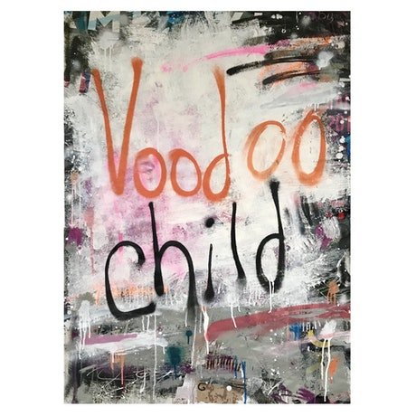 (CreativeWork) Voodoo Child by Cold Ghost. Mixed Media. Shop online at Bluethumb.