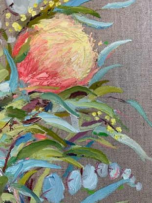 (CreativeWork) Such a Delight ($540 framed / $410 unframed) by Eve Sellars. Oil Paint. Shop online at Bluethumb.