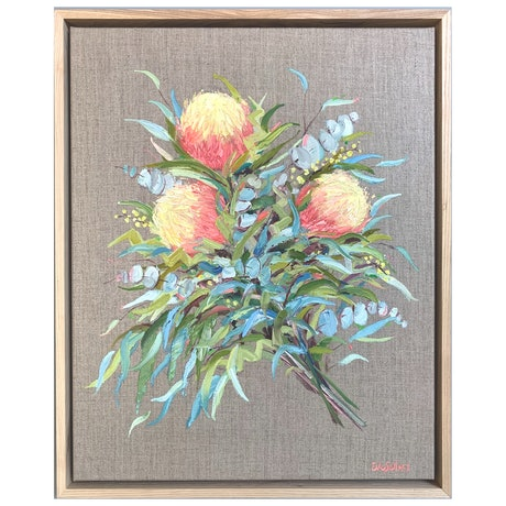 (CreativeWork) Delicia by Eve Sellars. Oil Paint. Shop online at Bluethumb.