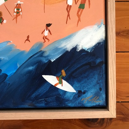 (CreativeWork) Merry Beach by Marnie McKnight. Acrylic Paint. Shop online at Bluethumb.
