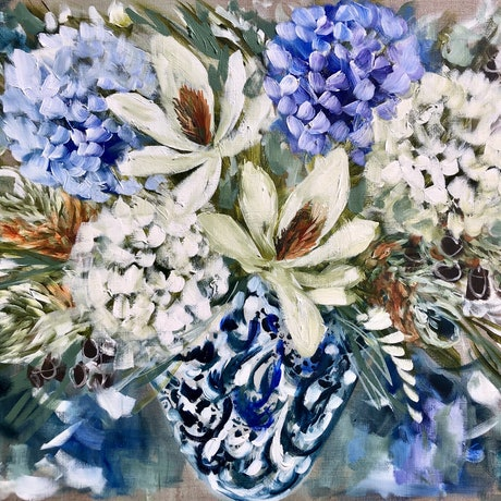 (CreativeWork) Hope blooms  by Amanda Brooks. Acrylic Paint. Shop online at Bluethumb.