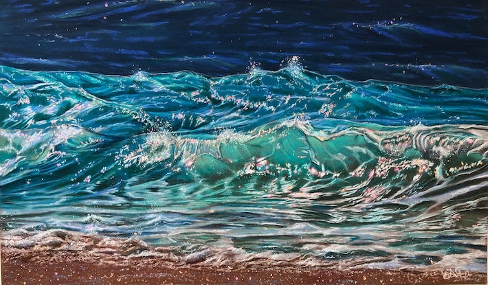 (CreativeWork) Wave of Anticipation by Alyce Duhs. Other Media. Shop online at Bluethumb.