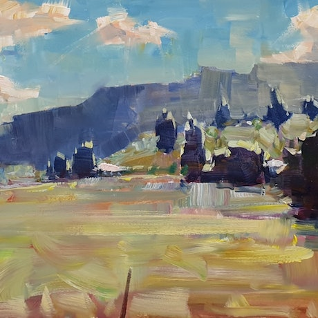(CreativeWork) Cloudy day in Mount Pleasant  by Minhan Cho. Oil Paint. Shop online at Bluethumb.