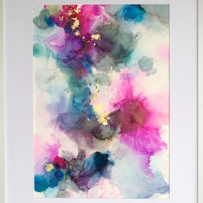 (CreativeWork) Touch of Colour  by Jessie Wheldon. Mixed Media. Shop online at Bluethumb.