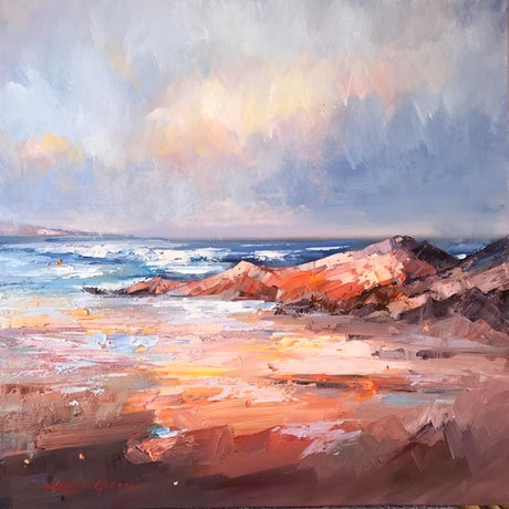 (CreativeWork) Bay of fires No 4 by Liliana Gigovic. Oil Paint. Shop online at Bluethumb.