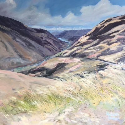 (CreativeWork) Road to Queenstown by Meredith Howse. Oil Paint. Shop online at Bluethumb.