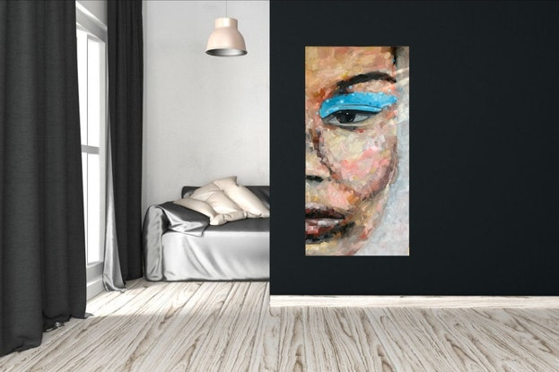 (CreativeWork) ZARA by Eve Sellars. Oil Paint. Shop online at Bluethumb.
