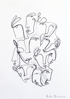 (CreativeWork) Sticking together  by Kate Florence. Drawings. Shop online at Bluethumb.