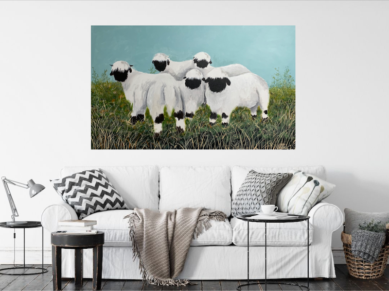 (CreativeWork) The pack by Tom Roso. Acrylic Paint. Shop online at Bluethumb.
