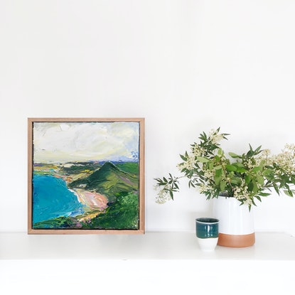 (CreativeWork) View From Tomaree  by Marnie McKnight. Oil Paint. Shop online at Bluethumb.