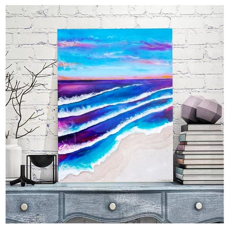(CreativeWork) When Sun Goes Down  by Eva Johnova. Resin. Shop online at Bluethumb.