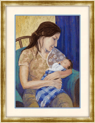 (CreativeWork) Mother and Child -Unframed by Lindy Whitton. Drawings. Shop online at Bluethumb.