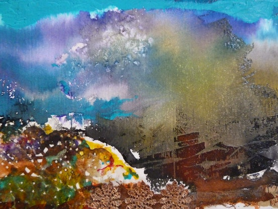 (CreativeWork) The Power of Nature - Spectacular Landscapes by Ruby Purple. Mixed Media. Shop online at Bluethumb.
