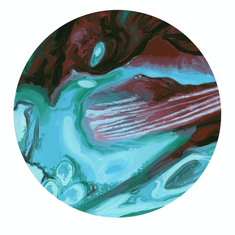 (CreativeWork) Drift 1 Cuprite by Drew Harrison. Acrylic Paint. Shop online at Bluethumb.