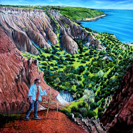 (CreativeWork) Amphitheatre artist by Mike McMeekan. Oil Paint. Shop online at Bluethumb.