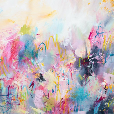 (CreativeWork) TRANSITIONS - Contemporary Abstract  by Rose Hewartson. Mixed Media. Shop online at Bluethumb.