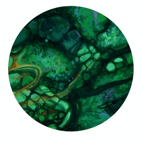 (CreativeWork) Drift 2 Atacamite by Drew Harrison. Acrylic Paint. Shop online at Bluethumb.