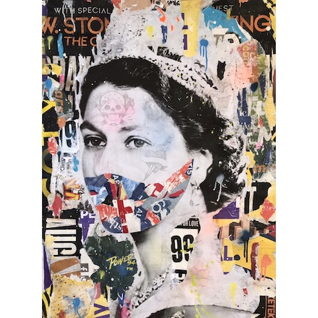 (CreativeWork) Quarantine Queen by Cold Ghost. Mixed Media. Shop online at Bluethumb.