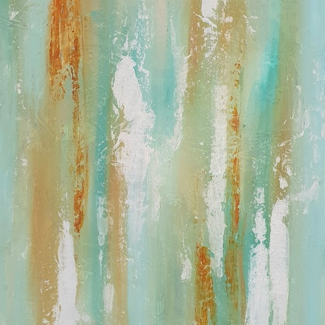 (CreativeWork) Coastal Limestone by Ruth Murfet. Acrylic Paint. Shop online at Bluethumb.