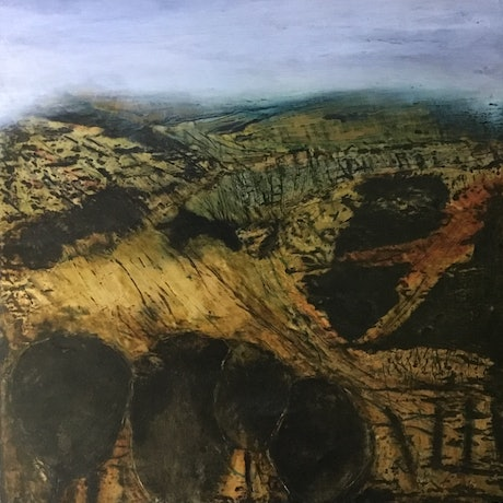 (CreativeWork) 'Camp Cave Hill' by Anna Henderson. Mixed Media. Shop online at Bluethumb.