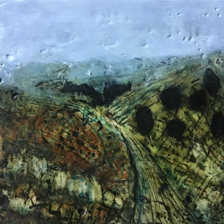 (CreativeWork) 'Nowland's Road' by Anna Henderson. Mixed Media. Shop online at Bluethumb.