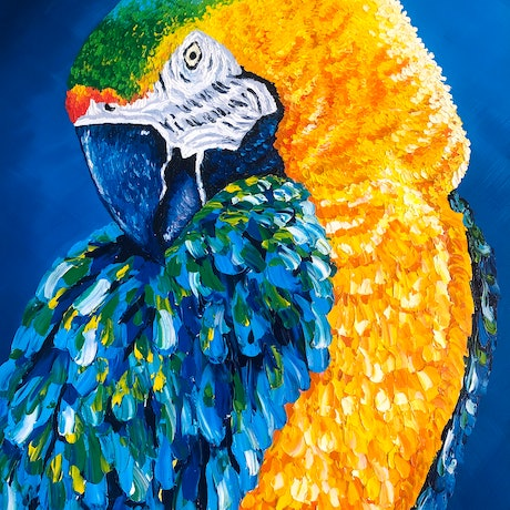 (CreativeWork) Majestic Bird by Ashley Bunting. Oil Paint. Shop online at Bluethumb.