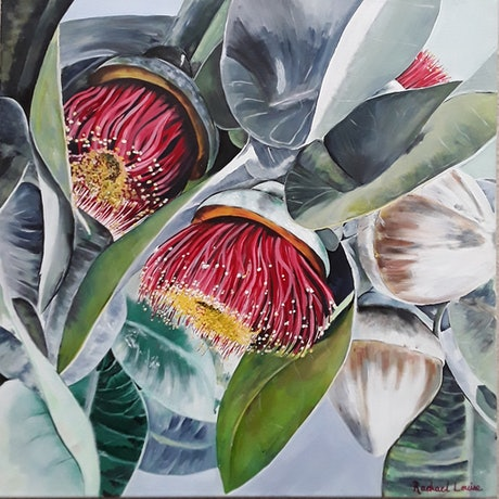 (CreativeWork) Flowering Blossom by Rachael Charalambous. Acrylic Paint. Shop online at Bluethumb.