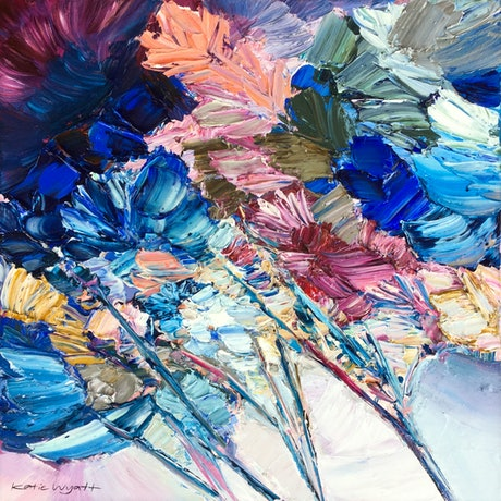 (CreativeWork) Ember by Katie Wyatt. Acrylic Paint. Shop online at Bluethumb.