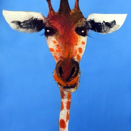 (CreativeWork) Giraffe  by John Graham. Mixed Media. Shop online at Bluethumb.