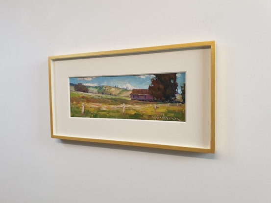 (CreativeWork) Landscape with a farmhouse by Minhan Cho. Oil Paint. Shop online at Bluethumb.