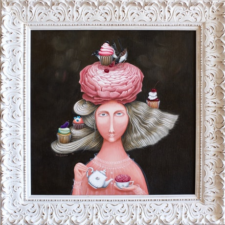 (CreativeWork) Bonjour | surrealism  by Yulia Pustoshkina. Oil Paint. Shop online at Bluethumb.